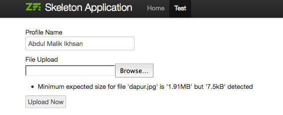 Zend Framework 2 : Create Simple Upload Form with File
