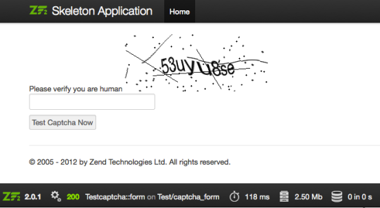 Zend Framework 2 : Using Captcha Image in Zend\Form   Welcome to