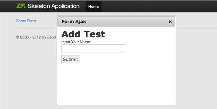Zend Framework 2 : Using Zend\Form and Ajax | Welcome to Abdul Malik
